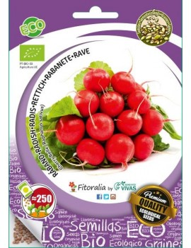"Fresanas, semillas ecológicas de Rábano ""Cherry Belle""."