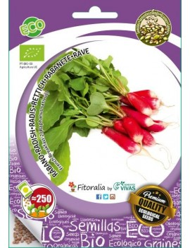"Fresanas, semillas ecológicas de  Rábano ""French Breakfast 2"""