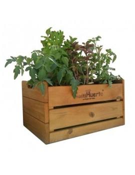 Cajón de cultivo de madera...