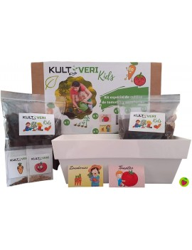 Fresanas set de cultivo tomates y zanahorias para niños, mi primer huerto
