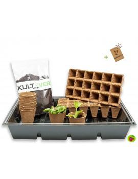 Fresanas set de cultivo de 14 piezas con semilleros biodegradables