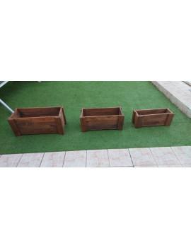 Fresanas jardineras de madera hechas con madera de palets (pallets)