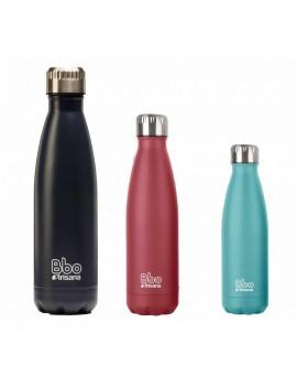 Fresanas botella reutilizable de acero inoxidable con capacidad para 350 m., en 3 colores: azul, rojo y turquesa
