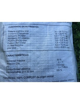 Humus de Lombriz Lombec saco de 4 kg. (6,6 litros)