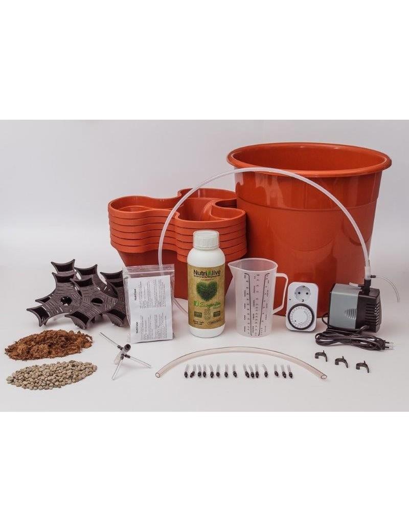 Kit de Cultivo Hidropónico Plus Ecogarden Terracota