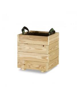 Jardinera maceta de madera cuadrada 35x35x40 Hortalia