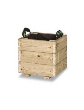Fresanas jardinera maceta de madera PUN KD Hortalia 30X30X30 cm.