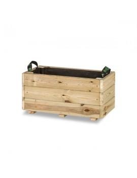 Fresanas jardinera de madera rectangular modelo GHIO KD Hortalia 60 X 30 X 30 cm.